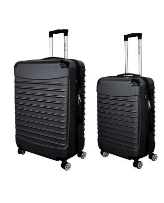 Juodų lagaminų komplektas XL + L